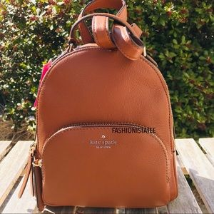 KATE SPADE JACKSON STREET MEDIUM BACKPACK GINGER